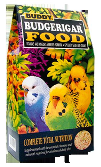 อาหารนกหงษ์หยก ทุกสายพันธุ์ ยี่ห้อ Buddy ขนาด 1.5 ปอนด์
