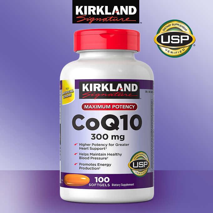 แพคเกจใหม่ล่าสุด Kirkland Coenzyme Q10 300 mg. ขนาด 100 เม็ด รับประทานวันละ 1 เม็ดค่ะ