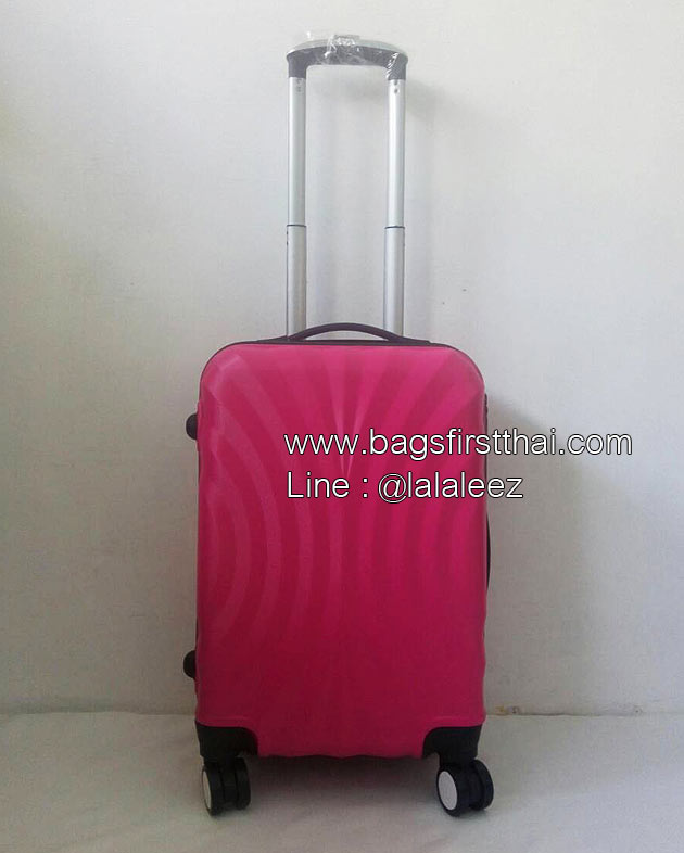 กระเป๋าเดินทาง ไซส์เล็ก 20 นิ้ว 4 ล้อลาก ลายพัดสีชมพู