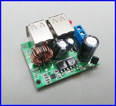 ดีซี คอนเวอร์เตอร์ ตัวแปลงไฟDCเป็นDC USB Step-down Power Supply Module New DC 12V 24V 40V to 5V 5A