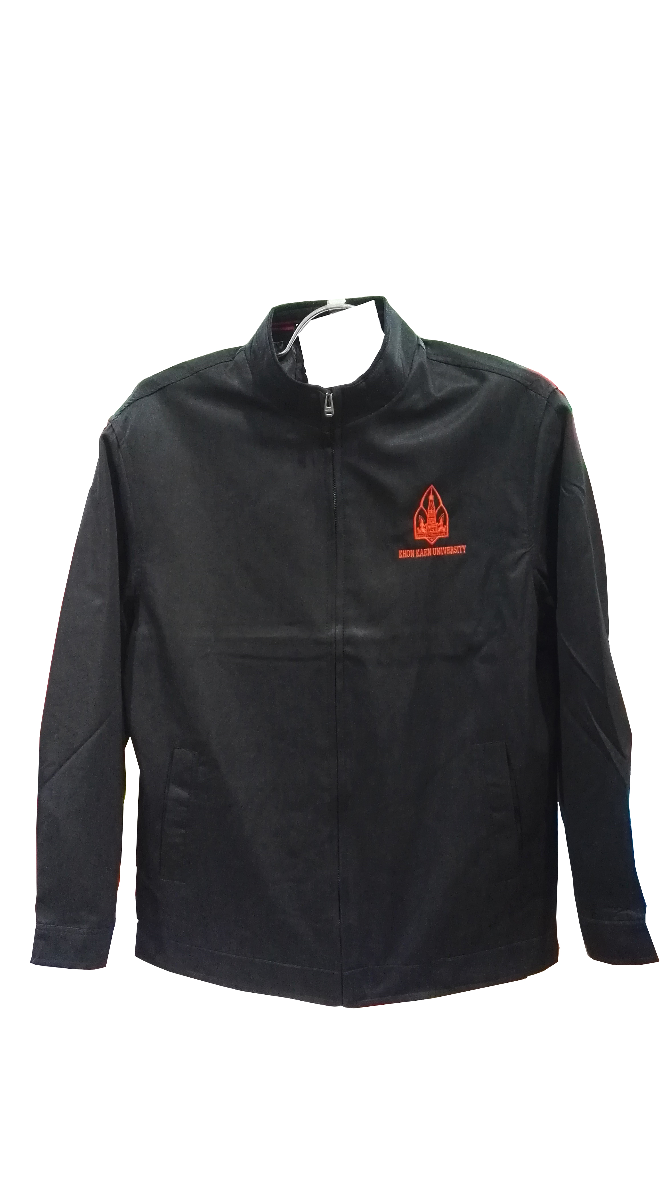 เสื้อแจ็คเก็ตคอจีนสีดำ Size S