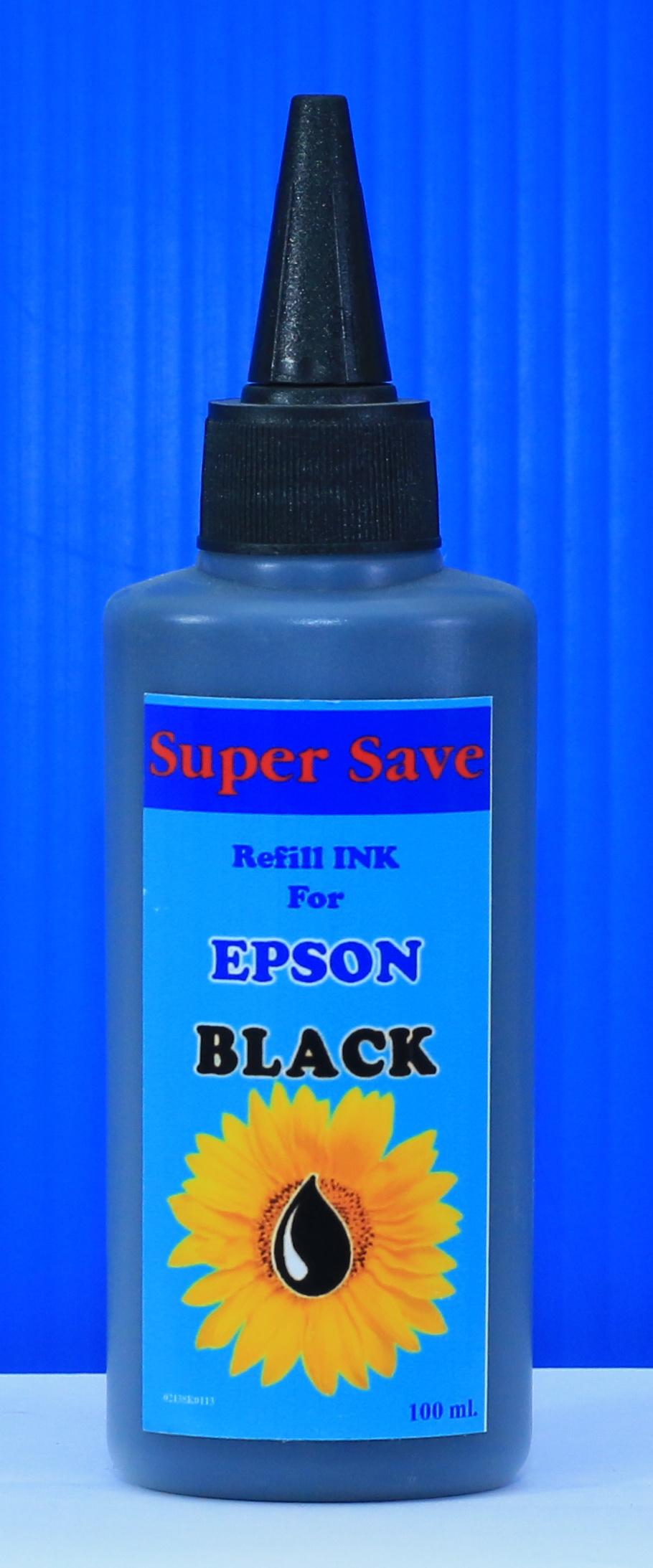 """น้ำหมึก Super Save 100 cc for EPSON """"BLACK"""""""