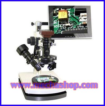 กล้อง ไมโครสโคป Double-Lens Contrast Stereo Microscope 2D/3D Contrast Microscope 7X-300X (สินค้า Pre-Order)