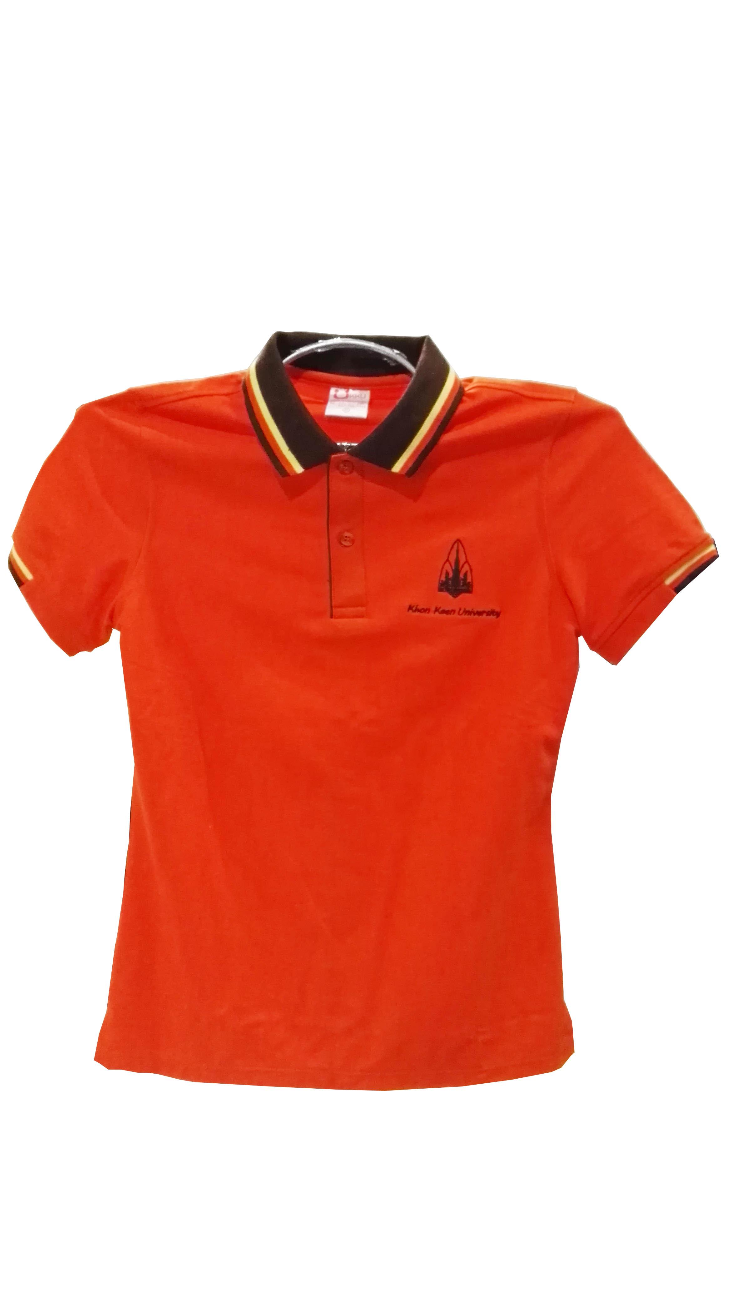 เสื้อโปโลส้ม Size M(หญิง)