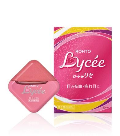 Rohto Lycee ยาหยอดตาสูตรธรรมดา ความเย็นระดับ 3 ขนาด 8 ml.กลิ่นกุหลาบหอม สดชื่นค่ะ