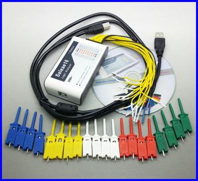เครื่องมือวิเคราะห์สัญญาณ USB Logic Analyzer 100M,16CH,10B samples, MCU ARM FPGA debug tool