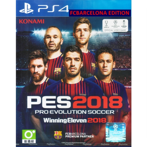 PS4: Winning Eleven 2018 [PES2018] - FCBarcelona Edition (Z3) [ส่งฟรี EMS]