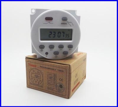 เครื่องตั้งเวลาดิจิตอล ตัวตั้งเวลา รายวัน รายสัปดาห์ มีแบตเตอรี่ lithium และรีเลย์ ในตัว 17 On/Off Digital Power Programmable Timer 12V