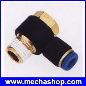 ขั้วต่อลม ข้อต่อลม อุปกรณ์ลม SPH6-01 SPH series swing elbow PH 6-01 ท่อ 6mm เกลียวนิ้ว 1/8