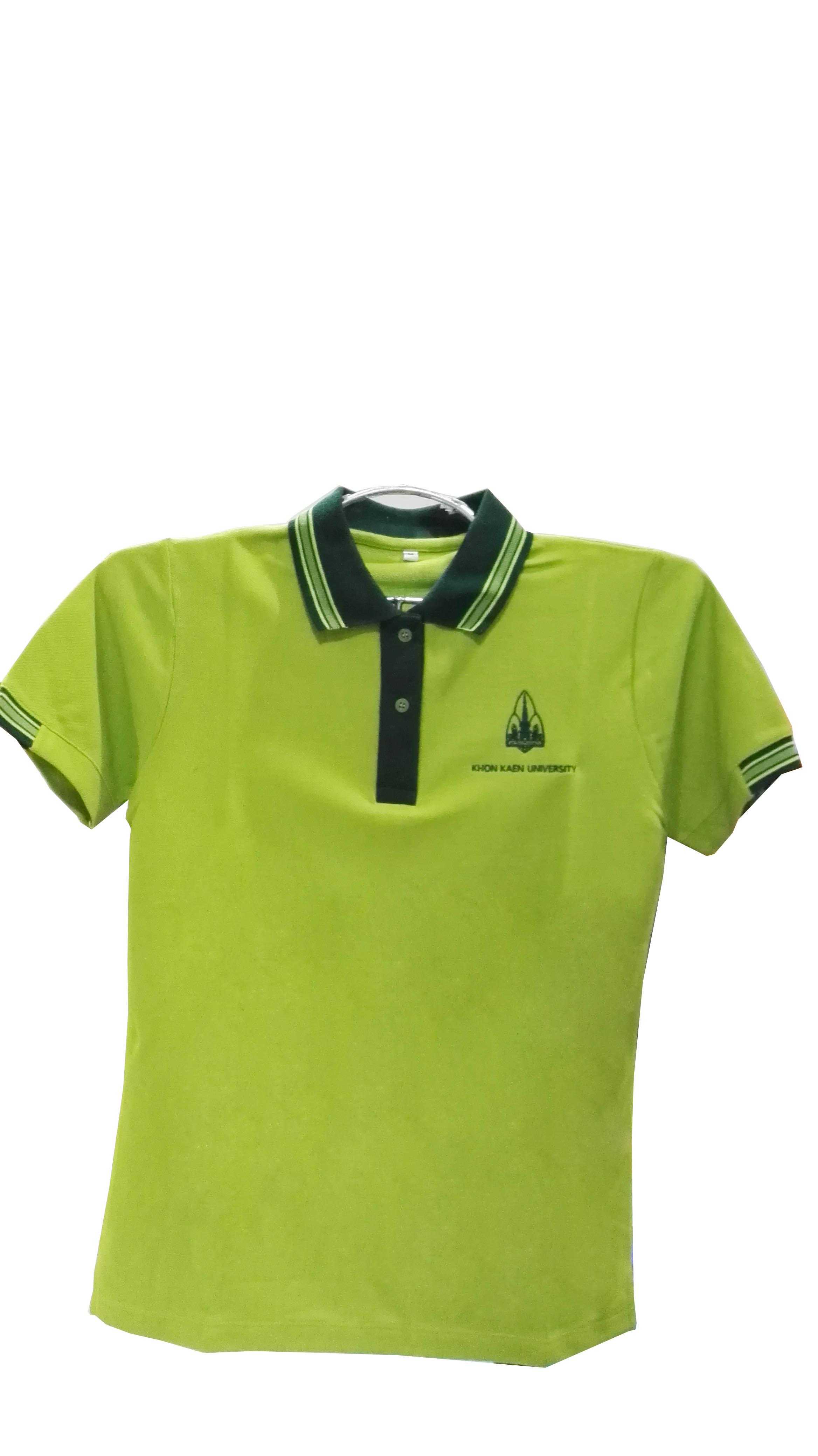 เสื้อโปโลสีเขียวขี้ม้า M(หญิง)