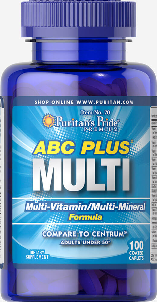 Puritan's Pride ABC PLUS MULTI VITAMINS 100 เม็ด COMPARE TO CENTRUM วิตามินรวมสำหรับวัยทำงานอายุต่ำกว่า 50 ปีค่ะ
