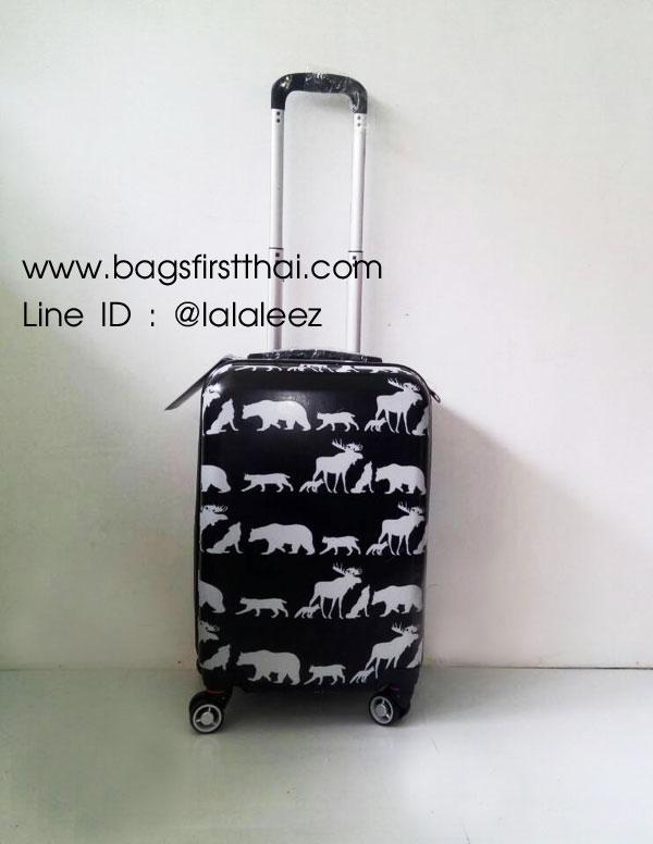 กระเป๋าเดินทางล้อลาก ลายสัตว์ป่า ขนาด 20 นิ้ว