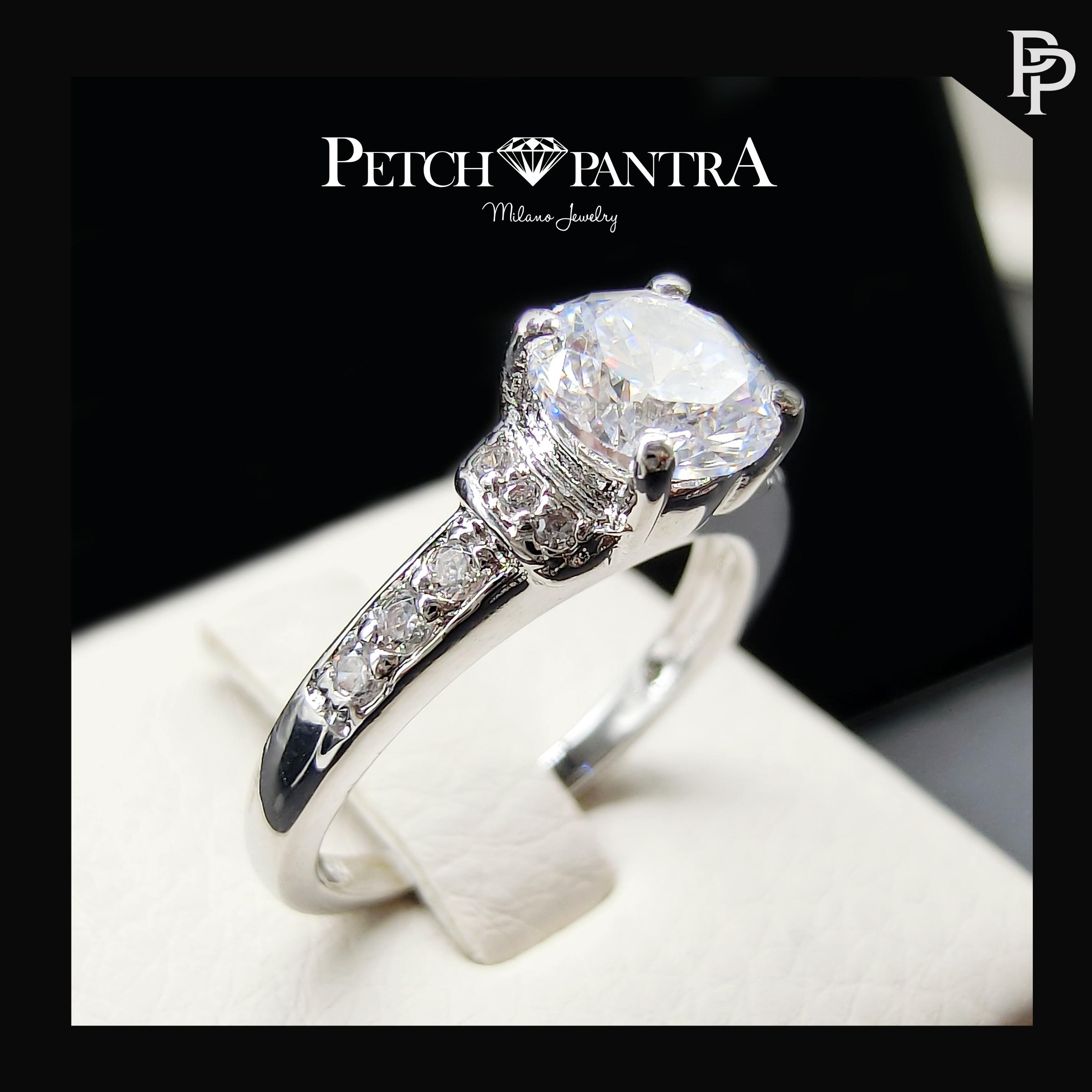 แหวนเพชรCZ แหวนเพชรเม็ดชู สำเนา