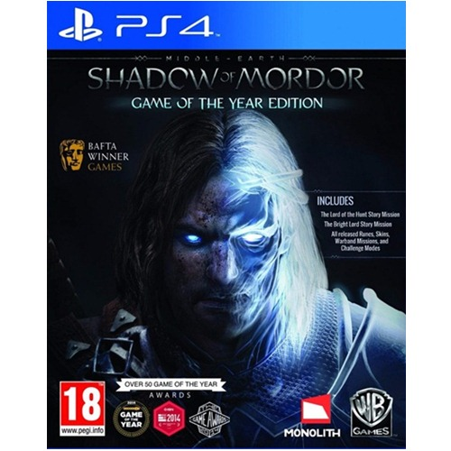 PS4: Middle Earth Shadow of Morder - Game of The Year Edition (Z3) [ส่งฟรี EMS]
