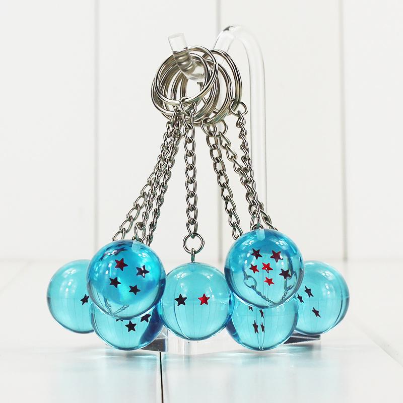 พวงกุญแจลูกบอลดราก้อนบอลสีฟ้า Dragon Ball Z 7 Stars Balls Keychain