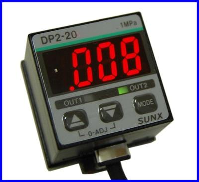สวิตช์แรงดัน เซนเซอร์แรงดันลม Pressure Switch 0 - 101.3 kPa Telegnosis sunx pressure sensor DP2-20