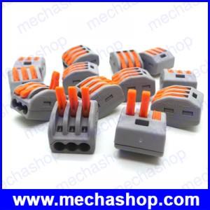 (10ชิ้น)เทอมินอลต่อสายไฟ ขั้วต่อสายไฟ ขัวต่อสายคอนโทรล ลูกเต๋าเชื่อมต่อสายไฟ PCT-213 3 Pin Universal compact wire wiring connector conductor terminal block with lever