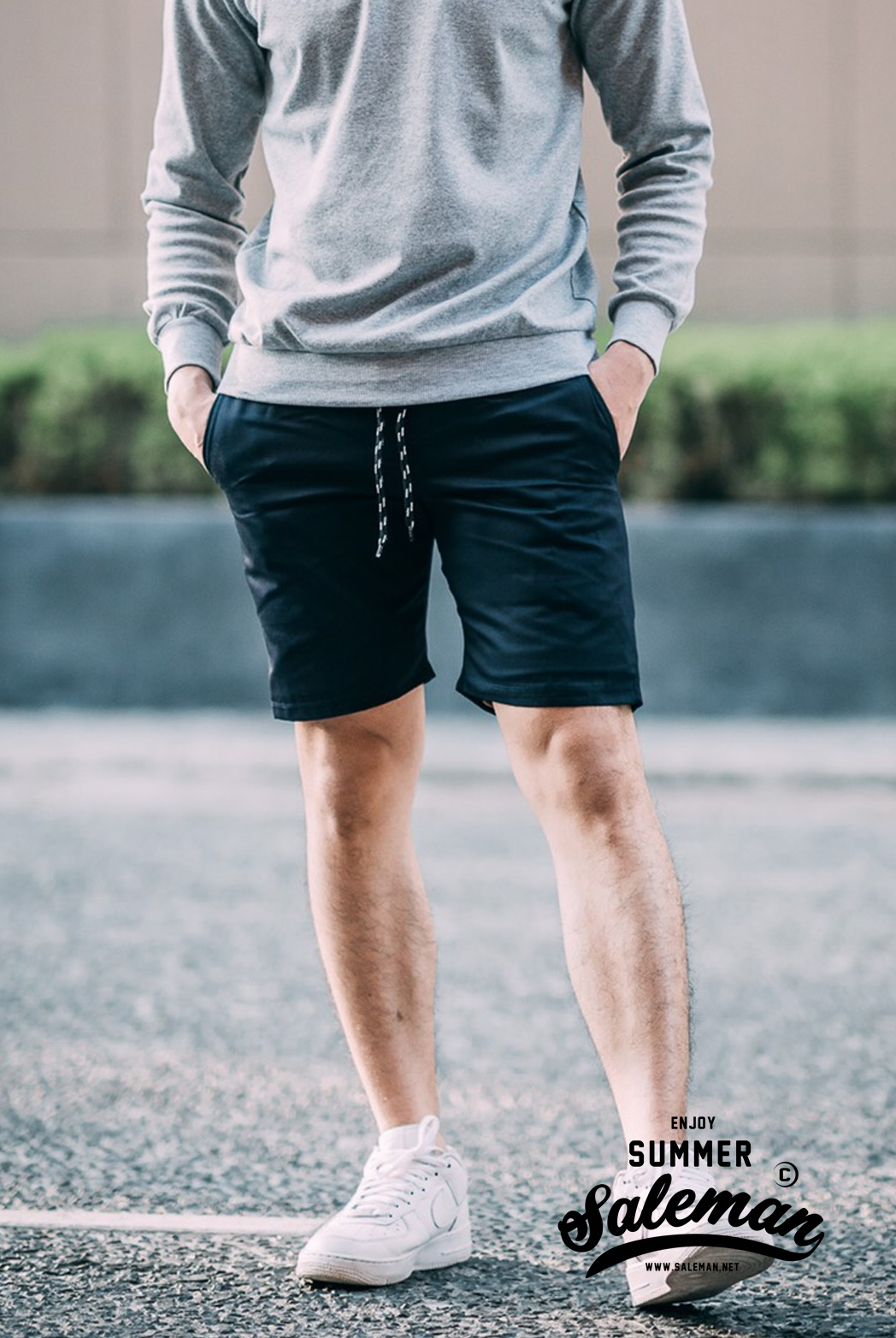 กางเกงขาสั้น พรีเมี่ยม ผ้า COTTON รหัส SST 212 สีกรมท่า