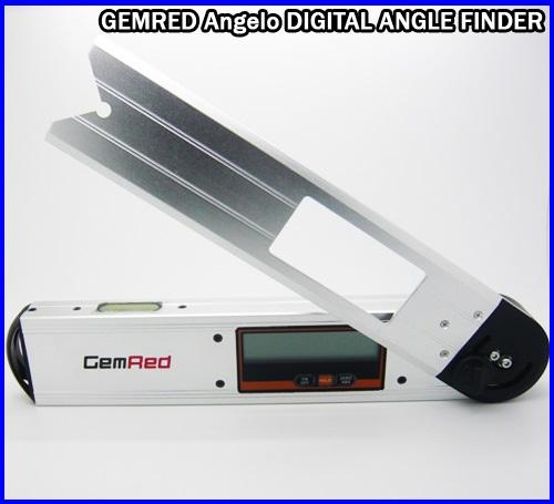 เครื่องวัดองศา เครื่องวัดมุม มิเตอร์วัดมุม มิเตอร์วัดองศา 360องศา พร้อมระดับน้ำ2ระดับ ขนาด10นิ้ว GEMRED Angelo DIGITAL ANGLE FINDER PROTRACTOR LEVEL