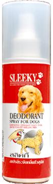 สเปรย์ระงับกลิ่นตัวสุนัข SLEEKY ขวดเล็ก 200 ซีซี