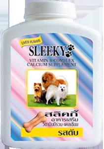 SLEEKY - สลิคกี้ วิตามินรวมและแคลเซียมสุนัข บำรุงร่างกายสุนัข รสตับ สำหรับหมาทุกพันธุ์ - ขวดกลาง 350 กรัม