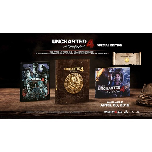 PS4: Uncharted 4 : A Thief's End - Special Edition (Z3) [ส่งฟรี EMS]