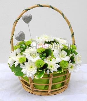 กระเช้าดอกไม้ Green Forever รหัส 2039