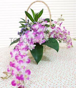 กระเช้าดอกไม้ Home Sweet Home รหัส 2026