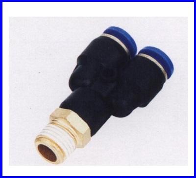 """ขั้วต่อลม ข้อต่อลม อุปกรณ์ลม SPX4-01 SPX series male """"Y""""(จำนวน10ชิ้น)"""