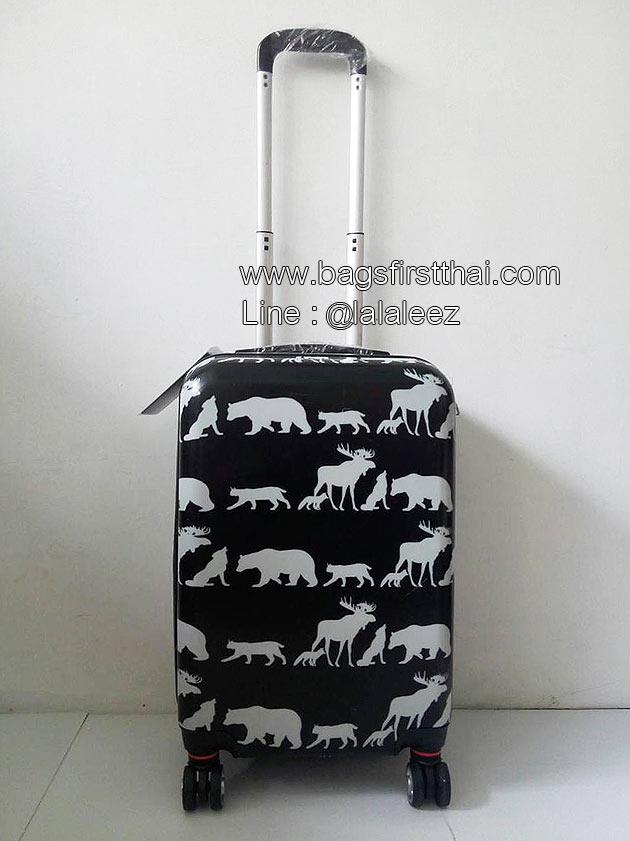 กระเป๋าเดินทาง PC 4 ล้อลาก ไซส์ 20 นิ้ว น้ำหนักเบา ลายสัตว์ป่า