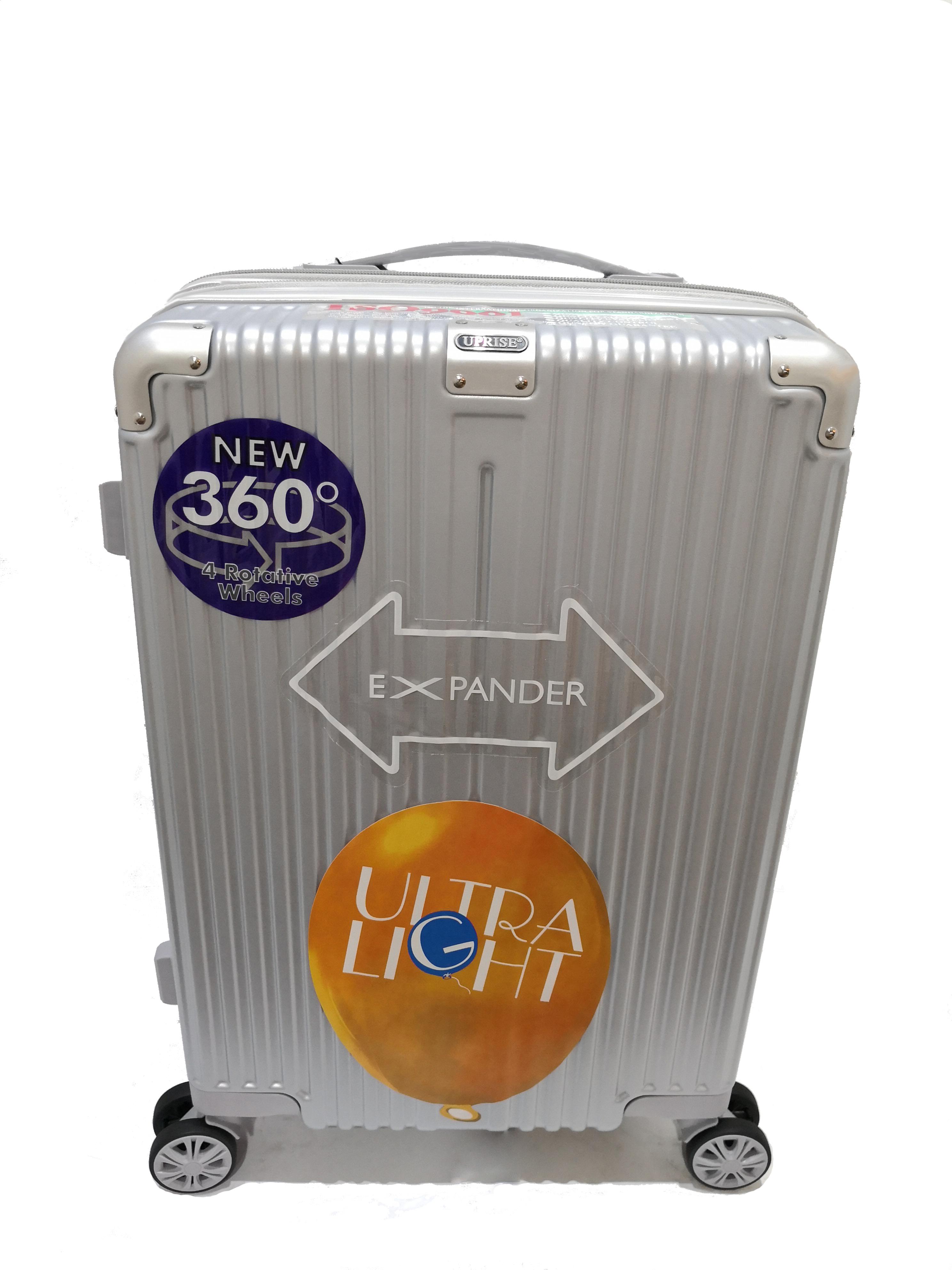 กระเป๋าเดินทางรหัส 1240 ขนาด 28 นิ้ว สีเงิน