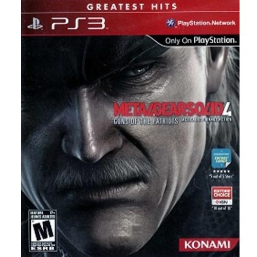 PS3: Metal Gear Solid 4 : Guns of the Patriots - Greatest Hit (Z1) [ส่งฟรี EMS]