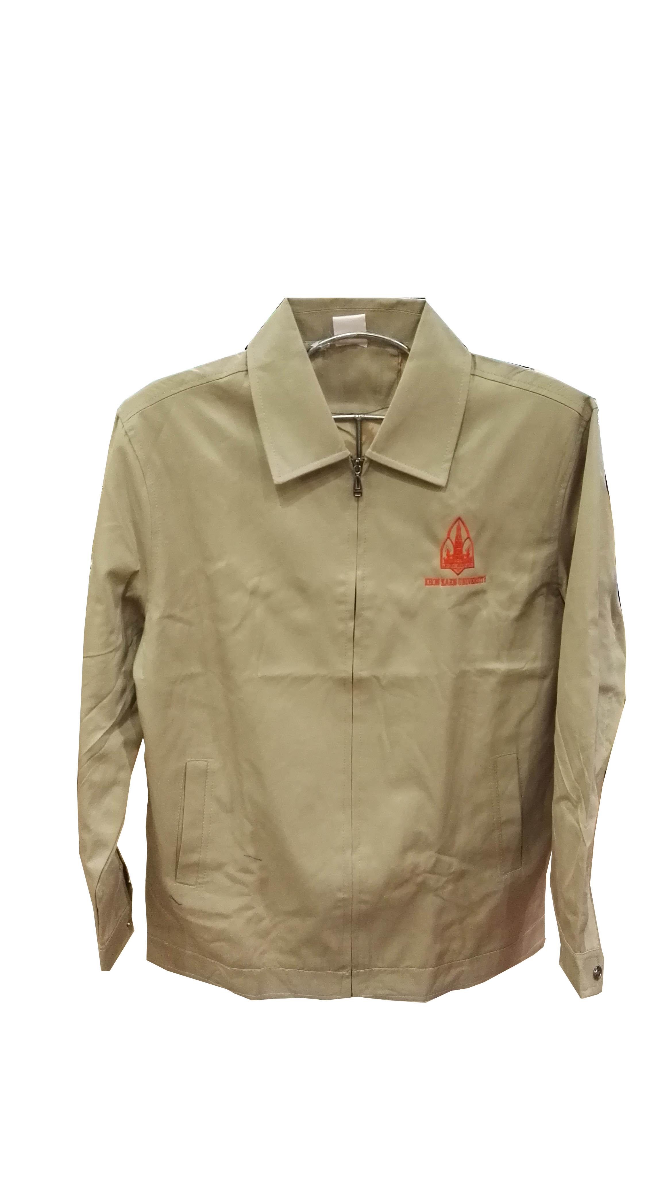 เสื้อแจ็คเก็ตคอปกสีน้ำตาล Size S