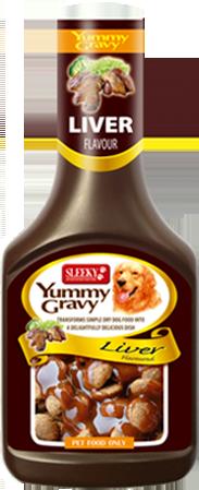 SLEEKY ยัมมี่ เกรวี่ รสตับ - น้ำเกรวี่สำหรับหมา (ซอสเพิ่มความอยากอาหาร) ขนาด 350 ซีซี