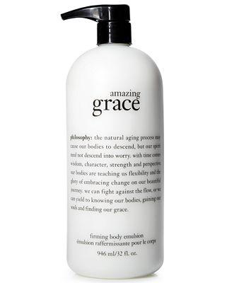 Philosophy Amazing Grace perfumed firming body emulsion 946 ml (32 oz) ครีมทาผิวที่ช่วยลดริ้วรอยแห้งกร้านและหอมมากๆค่ะ