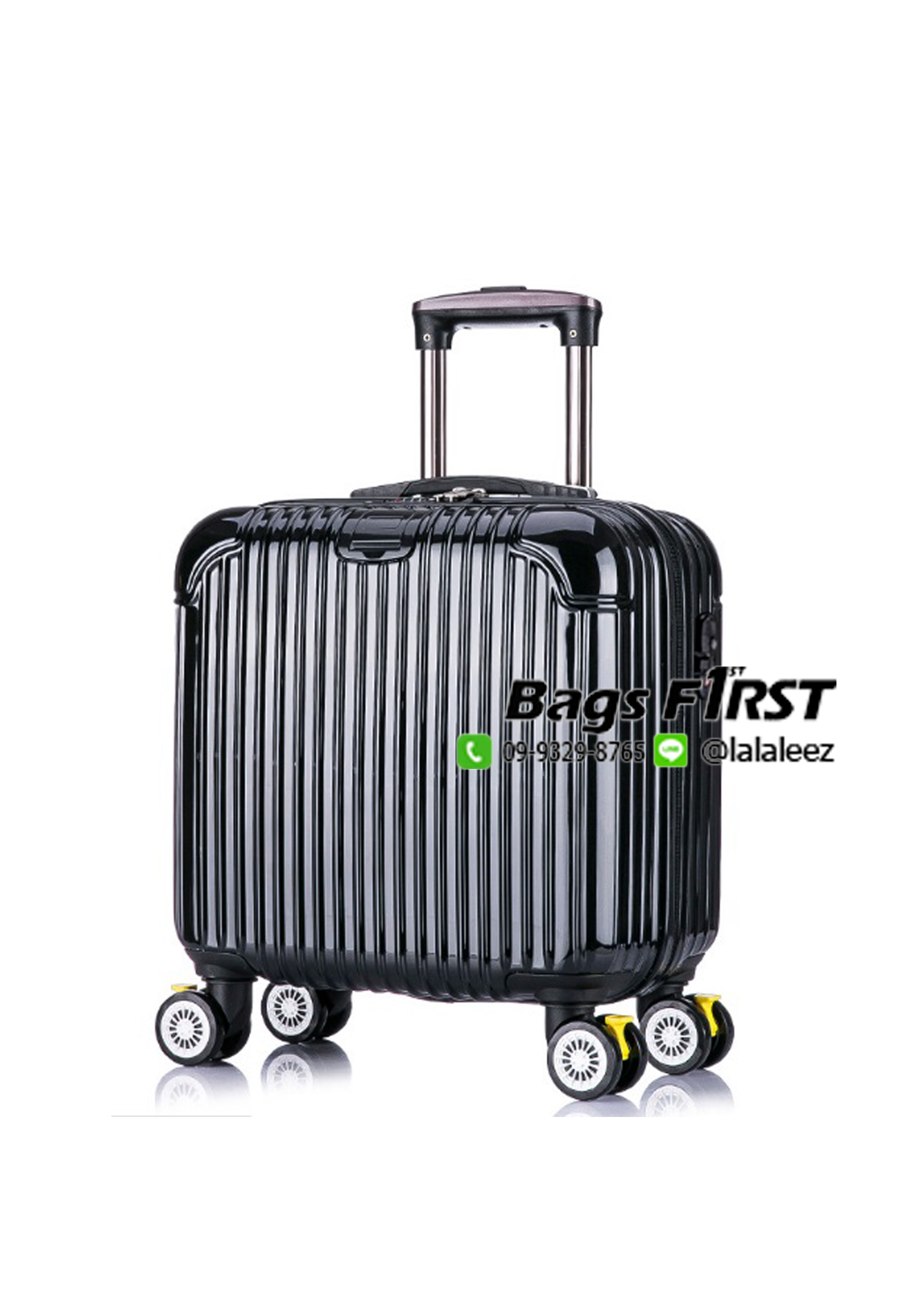 กระเป๋าเดินทางล้อลาก สีดำ ขนาด 16 นิ้ว