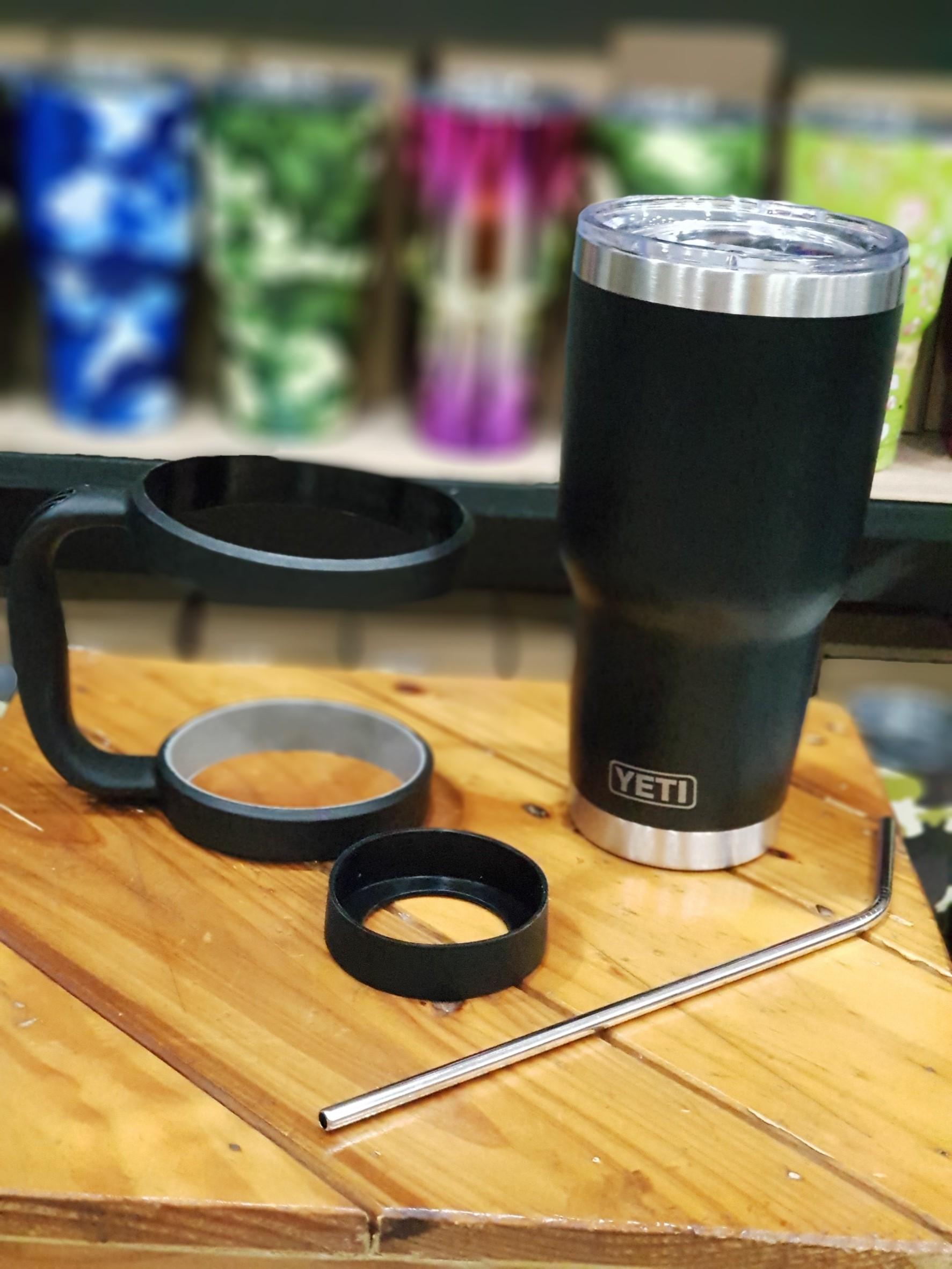 ชุดแก้วเยติ 30 ออนซ์ สีดำ ขอบเงิน