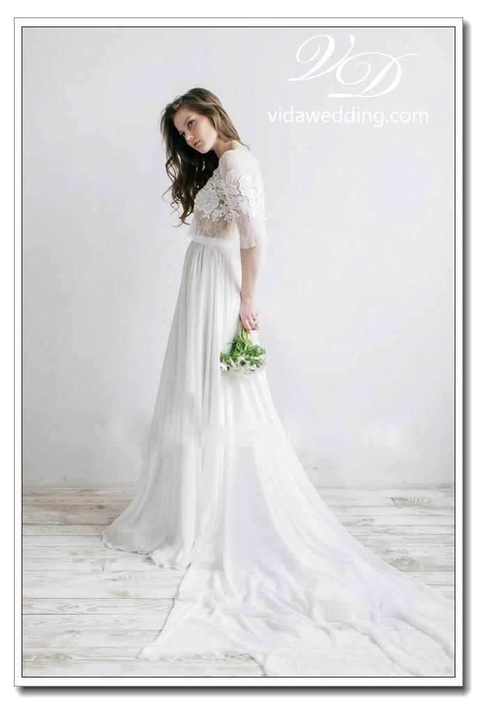 ชุดแต่งงาน แขนยาว