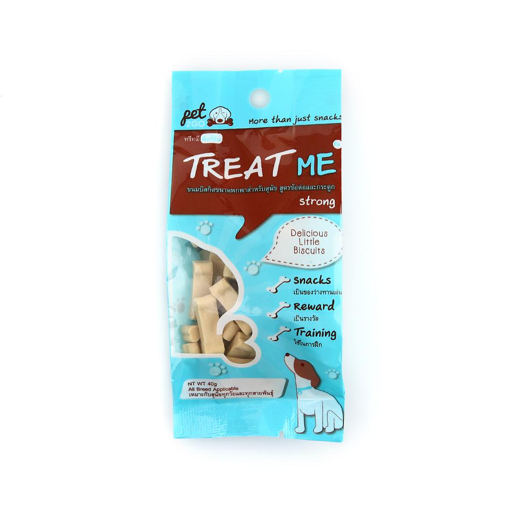 PET2GO ขนมฝึกสุนัข ทรีทมี สตรอง 40g สูตรบำรุงกระดูกและข้อต่อ