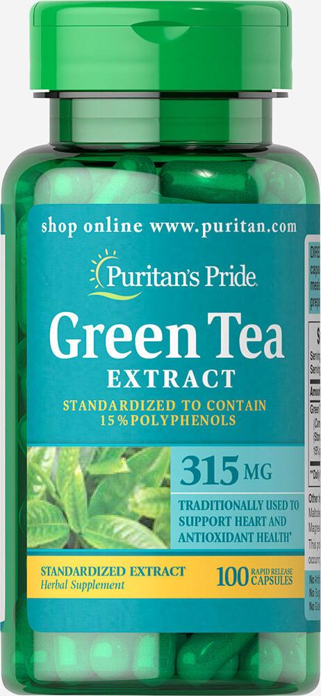 Puritan's Pride Green Tea Extract 315 mg. 100 เม็ด ชาเขียวในรูปแบบวิตามิน ต่อต้านอนุมูลอิสระและยังช่วยควบคุมน้ำหนักอีกด้วยค่ะ