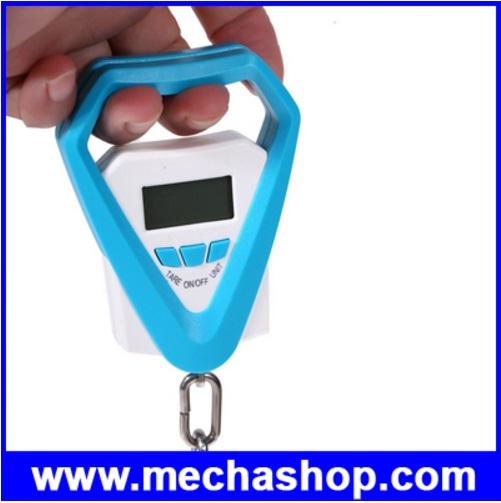 เครื่องชั่งแขวน เครื่องชั่งกระเป๋าเดินทาง เครื่องชั่งตกปลา 20kg/5g LCD Display Digital Hanging Scales Electronic Luggage Weight Fish Hook Scale
