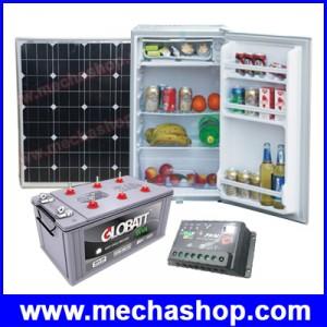 ชุดตู้เย็น 90ลิตร 3.2คิว ระบบโซล่าเซลล์ พลังงานแสงอาทิตย์ไฟ DC 12V Solar system refrigerator compressor freezer DC 12V ประหยัดพลังงาน