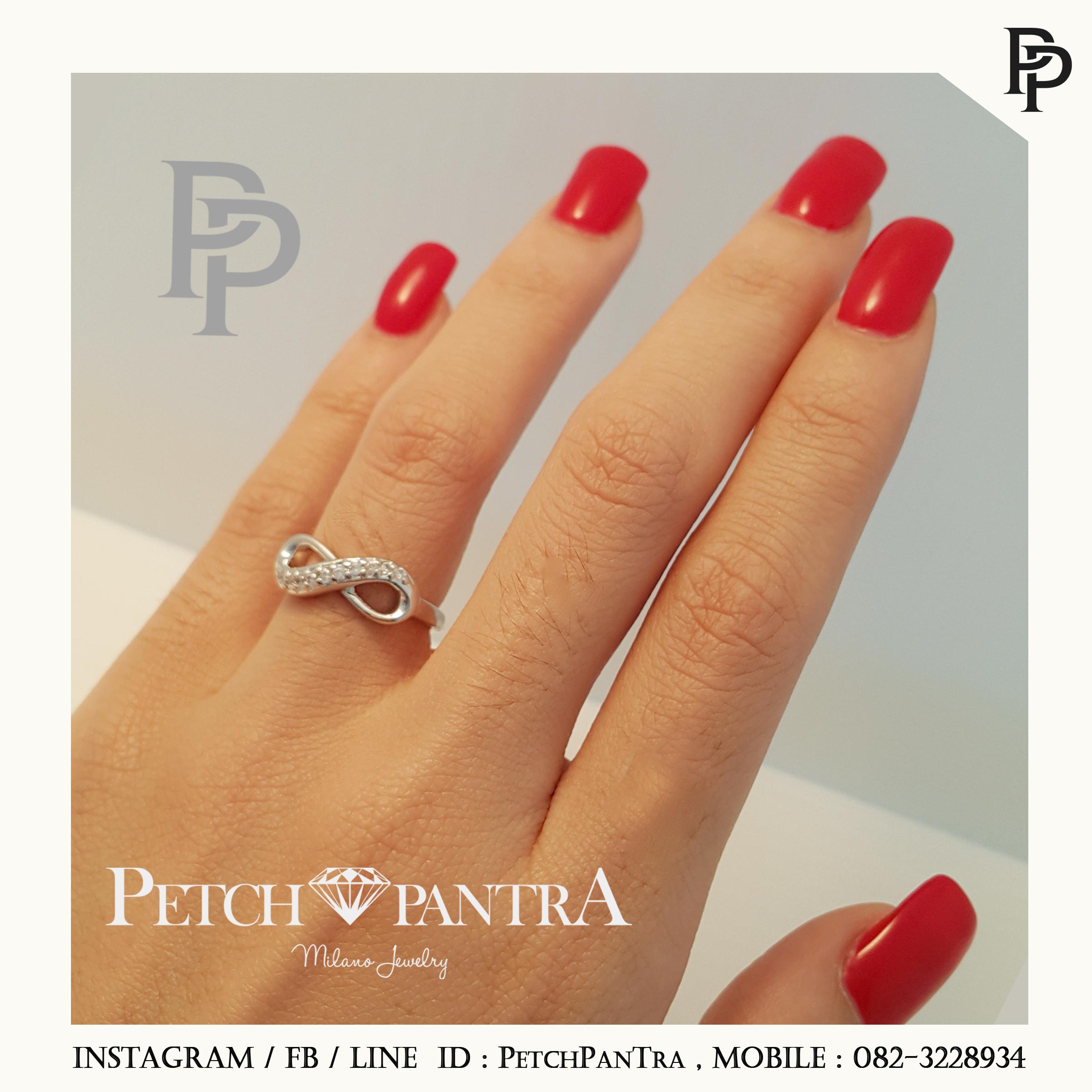 แหวนเพชรCZ แหวนเพชรรัสเซีย ทรงอิฟินิตี้
