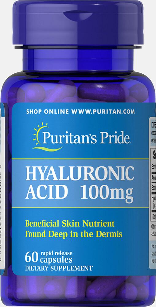 Puritan's Pride Hyaluronic acid 100 mg 60 เม็ด วิตามินบำรุงผิว จากอเมริกาค่ะ