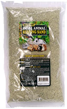 ทรายสำหรับปูพื้นนอน (Bedding Sand) ยี่ห้อ Buddy สำหรับหนูแฮมสเตอร์และสัตว์เล็ก ขนาด 3 กก.