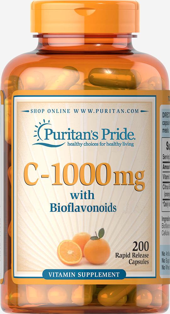 Puritan's Pride C-1000 mg with Bioflavonoids วิตามินซีคุณภาพสูง จากอเมริกาค่ะ ใน 1 เม็ดประกอบไปด้วย วิตามินซี 1000 mg