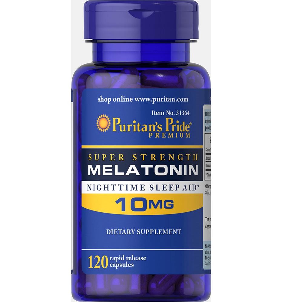 Puritan's Pride Melatonin 10 mg Super Strength วิตามินคลายเครียด ช่วยให้นอนหลับสบาย หลับได้นานขึ้น จากอเมริกาค่ะ