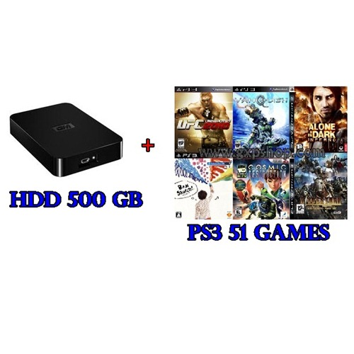 External HDD 500GB + Games PS3 Vol.4 (CFW3.55+) [ส่งฟรี EMS]
