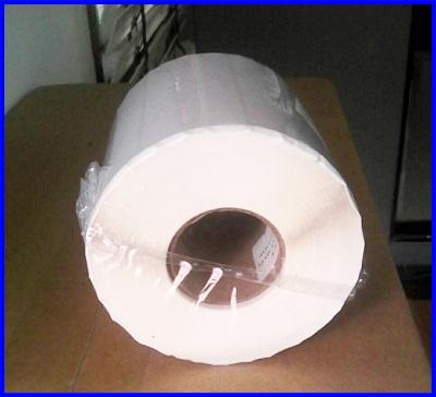 สติ๊กเกอร์ ไดเรคเทอร์มอล ขนาด 4x3 ซม. 2ดวงห่าง (2500ดวง/ม้วน)