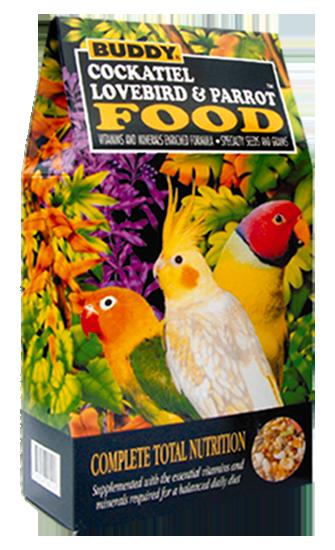 อาหารนกแก้ว นกค๊อกคาเทล นกเลิฟเบิร์ด ยี่ห้อ Buddy ขนาด 1.5 ปอนด์
